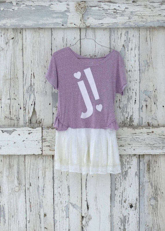 Juicy Tuity Fruity Minidress upcycled purple heather and white lace juicy couture dress eco friendly casual dress