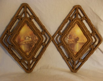 Vintage Romantic 1980s Cabin Wall Hangings