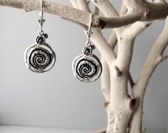 Sterling Silver Whirlpool Earrings