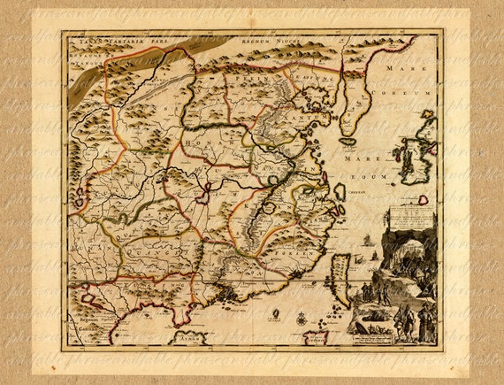 Map of china from the 1700s 189 ancient old world map sailing map of china from the 1700s 189 ancient old world map sailing vintage digital travel asia hong kong shanghai asia dragon japan gumiabroncs Images