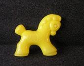 Soviet Plastic Toy Horse Yellow Kids Retro Toys USSR 70s 80s