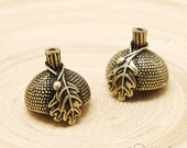 4pcs Antique Brass Acorn Beadcap (GT0856)