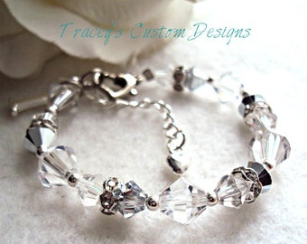 Baby's 1st Birthday SILVER Keepsake Bracelet - CUSTOM MADE.