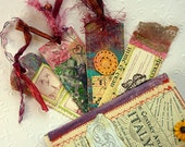 Handcrafted Bookmarks Collage Mixed Media Altered Art Book Bella Italia