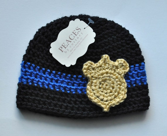Baby Hats Police Officer Baby Beanie Hat Baby Gifts Baby