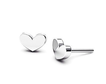 Heart shape studs, Sterling Silver Earrings, Tiny And cute Studs, Gift for kids, girlfriends, and bridesmaids, Handmade by Gwen Park Designs