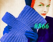 Vintage 1940s Fanfare Wrist  Clutch Bag 866 PDF Digital Crochet Pattern