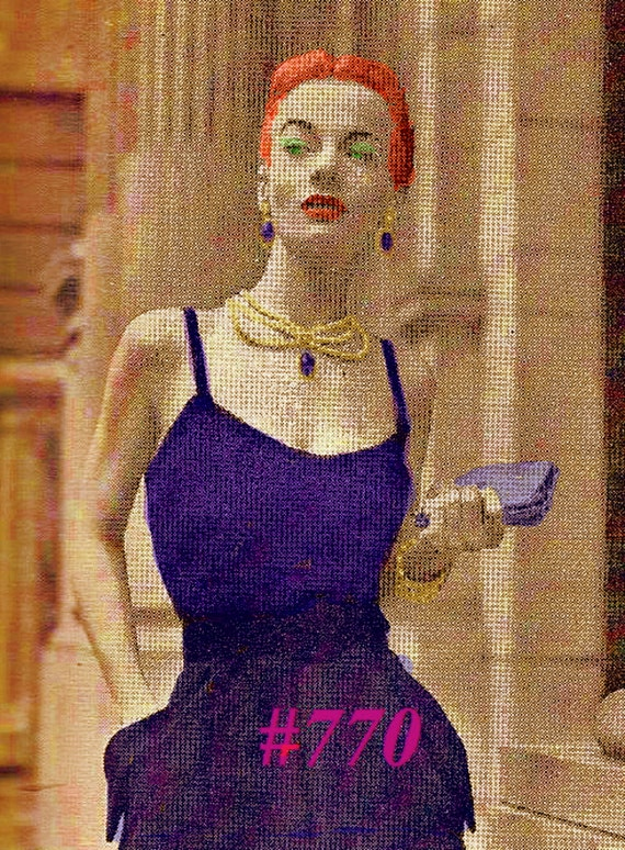 Almost FREE Vintage 1951 Vogue Bare Shoulder Evening Blouse with Beaded Braided Straps 770  PDF Digital Knit Pattern