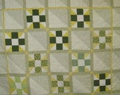King Quilt - 9 Patch & Half Squares