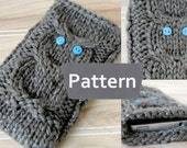 PDF PATTERN Instant Download Knit Iphone 5 Owl cozy,knit smartphone owl cozy pattern,digital knitting pattern,stash buster pattern