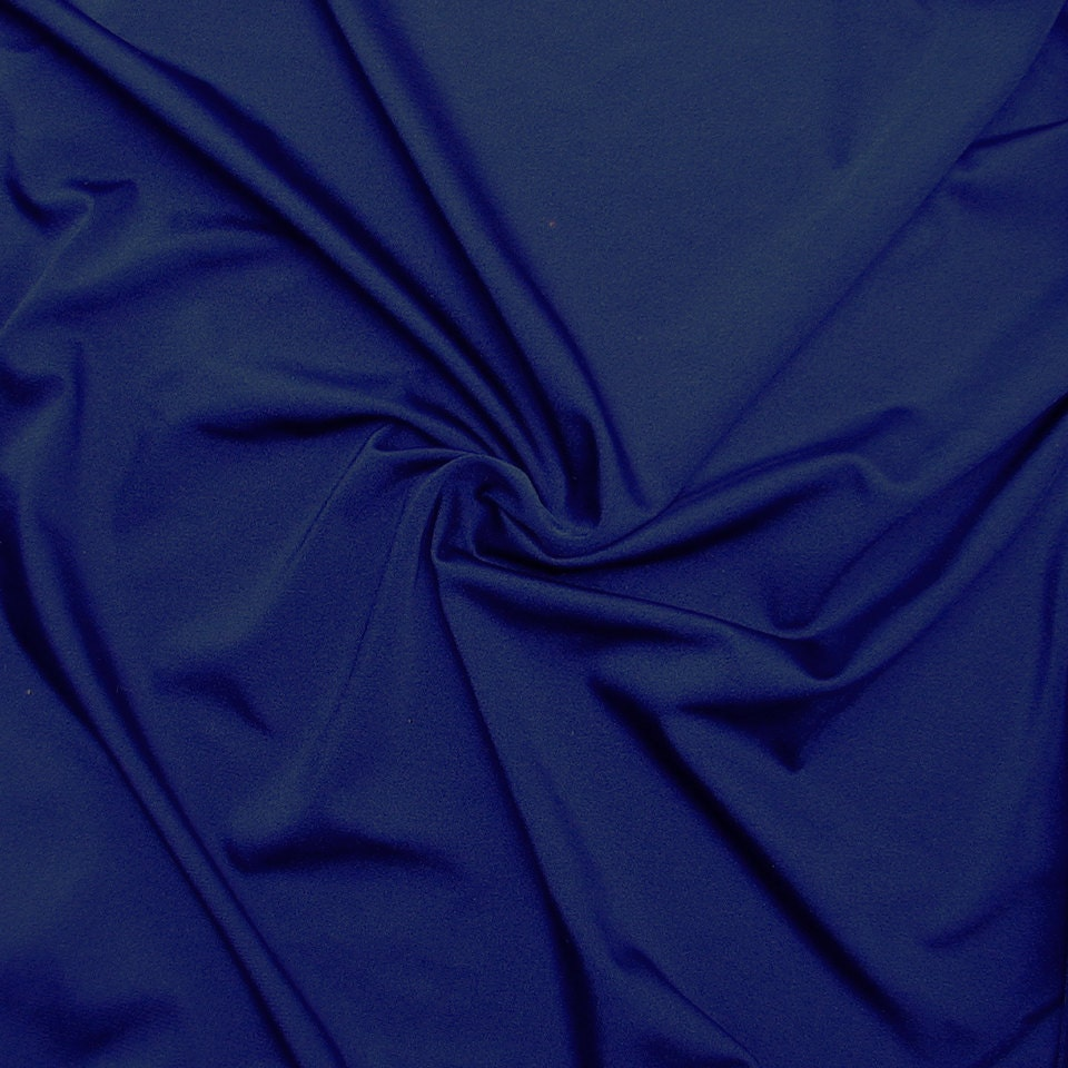 Nylon lycra fabric spandex stretch material solid navy for Lycra fabric
