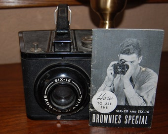 Vintage 1938- 1942 Six-16 Brownie Special Camera and How to Use Manual