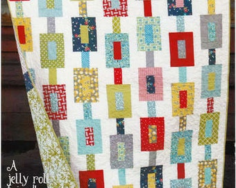 PATTERN: OFF TRACK, Jelly Roll Friendly by Cluck Cluck Sew