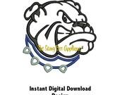 DD BULLDOG Applique - Machine Embroidery Design - 3 Sizes - Instant Download