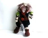 Dwalin Crochet Doll, Dwarf, Handmade, Tolkien The Hobbit