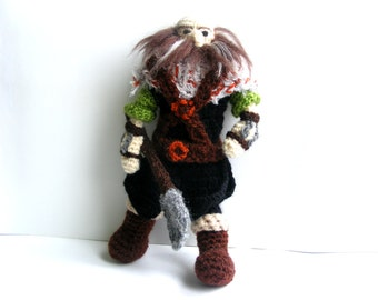Dwalin Crochet Doll, Dwarf, Handmade, Tolkien The Hobbit