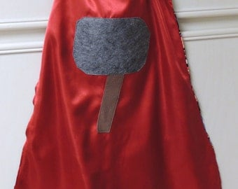 TERRIFIC personalized Thor cape. Thor Super hero cape with personalized initial monogram emblem. FREE personalization.