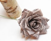 vintage paper roses, vintage paper flowers, wedding flowers, paper flower bouquet, big paper roses