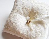 Wedding Ring Pillow: Ivory Lace