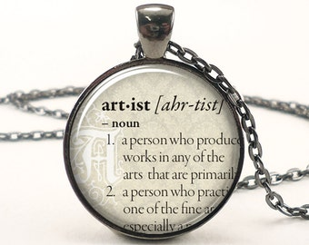 Personalized Dictionary Word Necklace, Custom Text Pendant Jewelry, Personalized Memorial Jewelry (DICTG1IN)