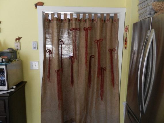 les rideaux de toile de jute bouton onglet avec des arcs de. Black Bedroom Furniture Sets. Home Design Ideas