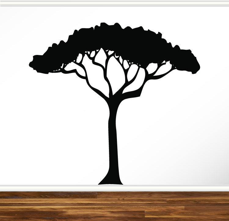 African Safari Tree Wall Decal Nursery Baby Kids Living Room