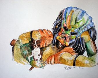 9 x 12 Custom Pet Celebrity Portrait Watercolor