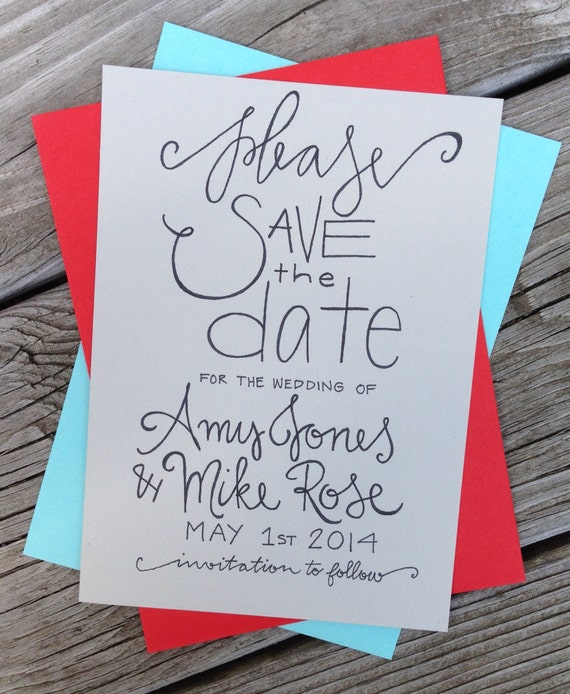 Simple Save The Date Simple Calligraphy Save The Date