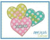 922 Valentine Words Heart Valentine's Day applique design in digital format for embroidery machine by Applique Corner