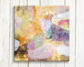 Pastel color abstract art print - print on canvas - wedding gift list