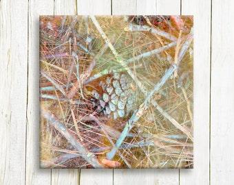 Acorn art - Canvas art print - ready to hang - wedding gift