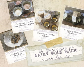 Crafting Herbal INCENSE, POWDERS, INFUSIONS, Salves Workshops Wortcunning and Faery Folk Magic e-course