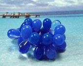 CORNFLOWER SAPPHIRE...Czech Glass Teardrop Beads, 9mm, 15pcs