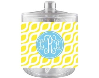 Monogrammed Ice Bucket Personalized Acrylic Ice Bucket Lucite Ice Bucket Custom Ice Bucket