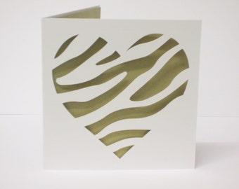Wild at heart papercut Valentine's card