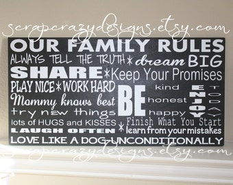 Custom Family Rules Sign