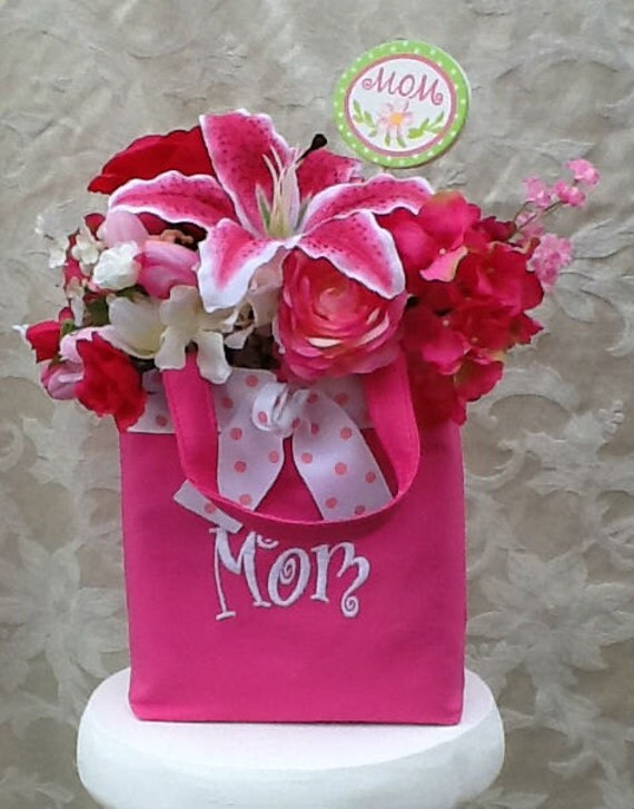 Silk Floral Arrangement Mother's Day Gift Tote
