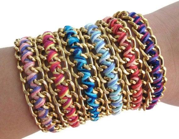 Ruby Red Zig Zag Bracelet