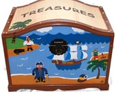 Dental and Doctor's Office Treasure Trunk Kids Pirate Theme Treasure Chest, Toy Box, Gift Box