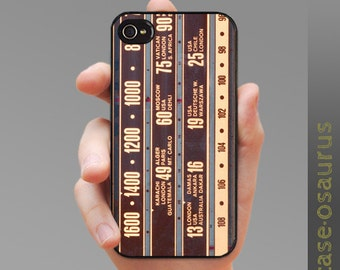 iPhone Case - Retro Analog Radio Dial for iPhone 6, iPhone 5/5s or iPhone 4/4s, Samsung Galaxy S6, Galaxy S5, Galaxy S4, Galaxy S3
