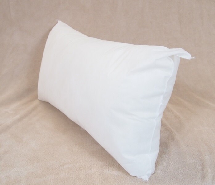 Down Decorative Pillow Forms : 12x24 Synthetic Faux Down Pillow Form Insert for Craft / Throw