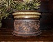 Vintage Pottery Planter Flower Pot Container Rustic Garden