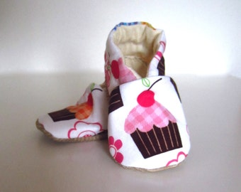 Birthday Girl Cupcakes Baby Shoes