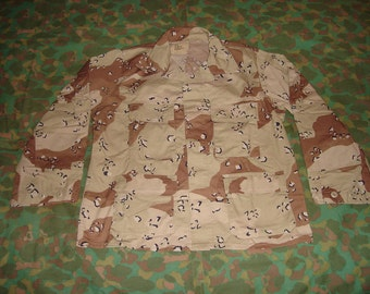 "Desert Storm US Military Issue Desert Camo Jacket,  Size Medium ""chocolate chip"""