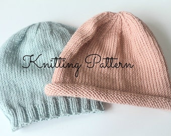 Knitting Pattern/DIY Instructions - Basics Beanie Hat - Babies & Toddlers