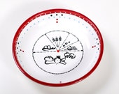 Ceramic Diet Bowl Healthy Eating Diagram and Portion Marks