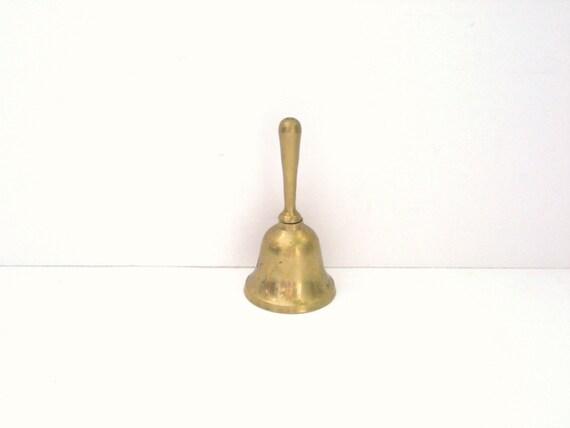 Little Brass School Bell - Vintage Patina - Teacher Gift