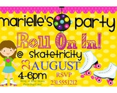 Roller Skating Birthday Invite