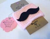 Pink Mustache Coffee Cozy