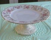 Vintage Repurposed Cupcake Plate